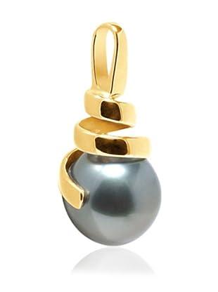 Manufacture Royale Colgante de Oro Amarillo 9 ct con Perla Cultivada de Tahití (10-11 mm)
