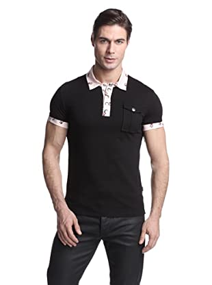 Just Cavalli Men's Polo with Contrast Collar (Black)