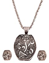 Ganapathy Gems Designer Pendant Earing Set With Chain (7587)