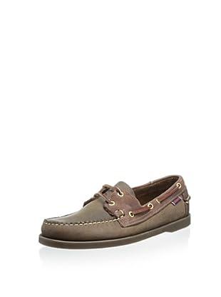 Sebago Men's Spinnaker Boat Shoe (Brown/Dark Brown)