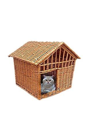 Home Bazaar Wicker Pet Cottage, Honey