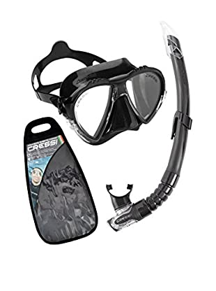Cressi Set Taucherbrille + Tubo Schnorchel Matrix & Gamma
