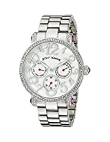 Betsey Johnson Women's BJ00492-05 Analog Display Quartz Silver Watch