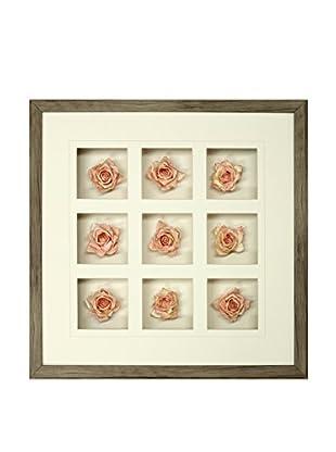 Star Creations Soft Rose 9-Patch Shadowbox Art