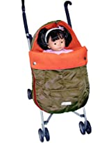 7 A.M. Enfant Toy Doll's Stroller Mini Sac Igloo Replica, Café/Orange (Discontinued by Manufacturer)