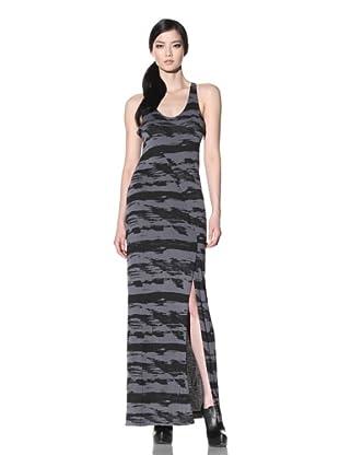 Improvd Women's Printed Jersey Maxi Dress (Black/Dark Grey)