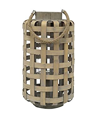 Three Hands Woven Bamboo Lantern, Brown