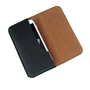 i-KitPit : PU Leather Flip Pouch Case Cover For Micromax Canvas Gold A300 (BLACK)