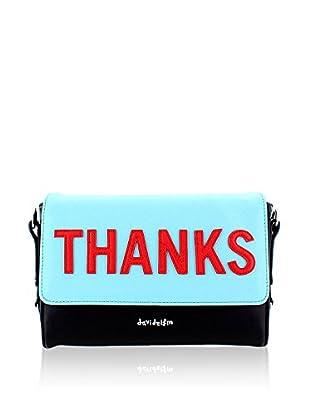 davidelfin Bolso de mano Thanks Clutch Azul