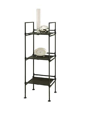 Organize It All Ebonize 3-Tier Square Shelf