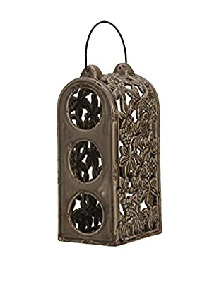 Bombay Company 3 Bottle Wine Holder, Rustic Brown