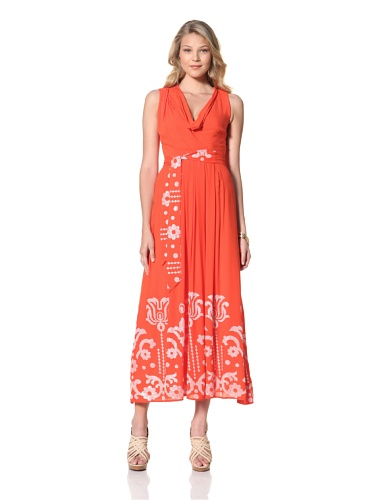 Eva Franco Women's Angelica Embroidered Sequin Maxi Dress (Sophia)