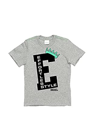 Diesel T-Shirt Tecny  Slim (Gris)