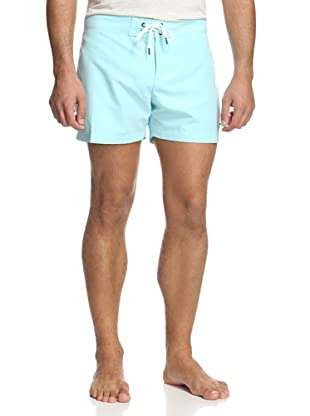 Parke & Ronen Men's Solid Boardshort (Spa Blue)