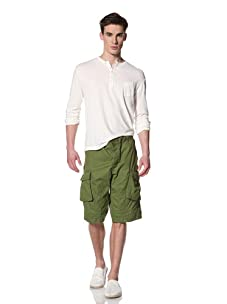 French Connection Men's Peached Lightweight Cargo Short (frog)