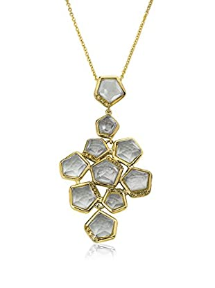 Riccova City Lights Faceted Glass Cluster Pendant Necklace with CZs, Gold