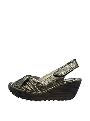 Fly London Sandalias Wedge (Negro)