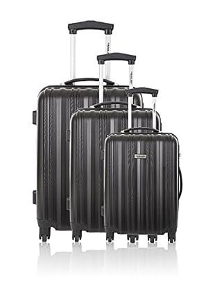 Travel ONE Set de 3 trolleys rígidos Carlisle Negro