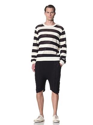 General Idea Men's Stripe Knit Pullover (Navy)