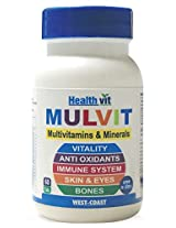 Healthvit Mulvit Multivitamins and Minerals Tablets, Unflavoured 60 tablet(s)
