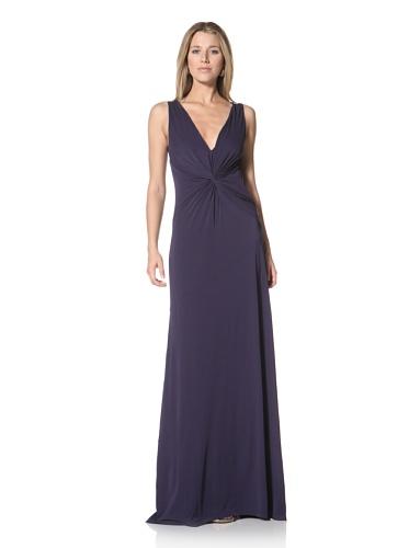 Halston Heritage Women's Twist Front Gown (Midnight)