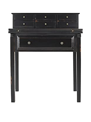 Safavieh Abigail Fold Down Desk, Black