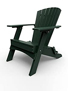 Malibu Outdoor Furniture Hyannis Folding Adirondack Chair (Turf Green)