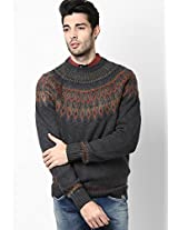 Charcoal Fairisle Sweater