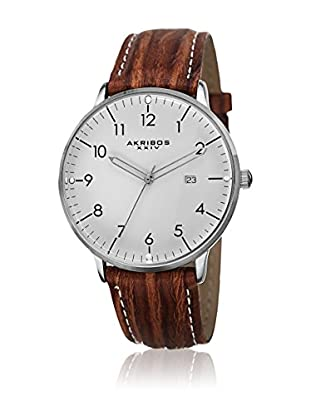 Akribos XXIV Reloj con movimiento cuarzo suizo Man Marrón