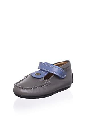 Venettini Kid's Luke 2 T-Strap Loafer (Grey/Indigo)