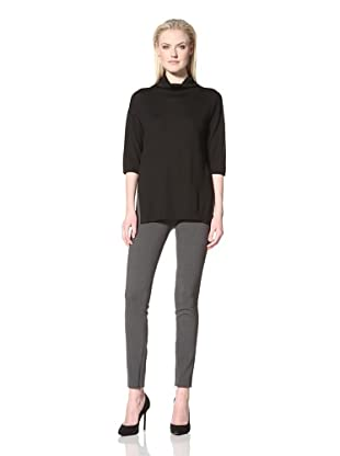 Les Copains Women's Tunic with Elbow-Length Sleeves (Black)