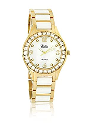 CERAM BY ART DE France Reloj de cuarzo Woman Round Blanco / Dorado 36 mm