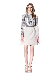Chloé Women's Skirt with Banded Hem (Grey)