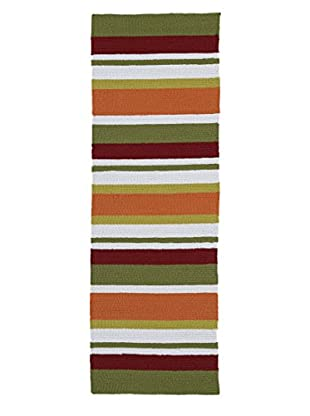 Kaleen Matira Indoor/Outdoor Rug, Tangerine, 2' x 6' Runner