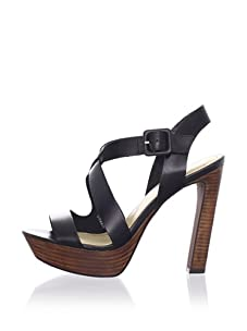 Luxury Rebel Women's Chantal Ankle-Strap Sandal (Black)