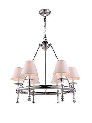 Urban Lights Montgomery 6-Light Pendant Lamp, Polished Nickel