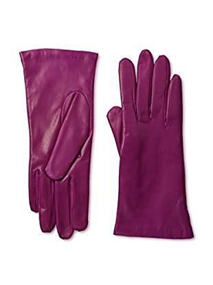 Portolano Women's Cashmere Lined Leather Gloves (Hot Pink)