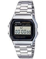 Casio Youth Digital Grey Dial Men's Watch - A158WA-1DF (D011)