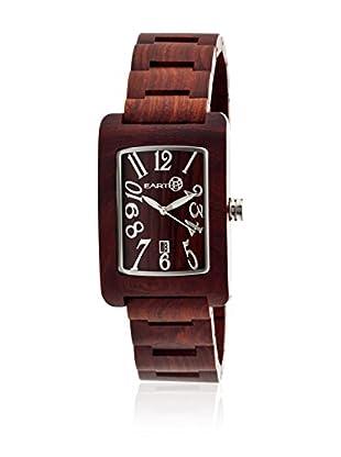 Earth Watch Uhr mit Japanischem Quarzuhrwerk Trunk rot 34 mm