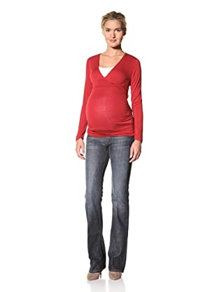 Lilac Maternity Michelle Long Sleeve Top (Red)