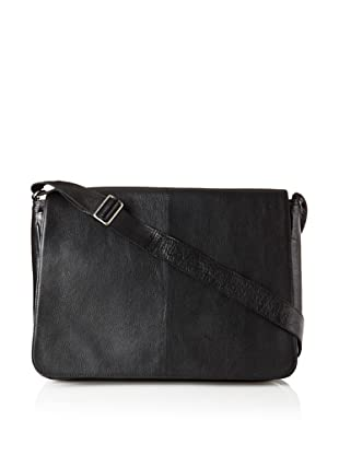 Latico Heritage Collection Front Flap Messenger (Black)