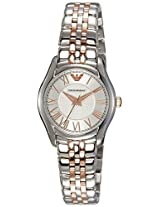 Emporio Armani Analog Silver Dial Women's Watch - AR1825