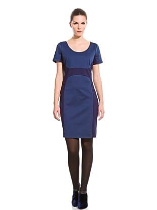 Cortefiel Vestido Espiga Punto Roma (Azul Marino)