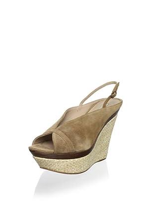 Pura López Women's Slingback Platform Wedge Sandal (Crosta Tabaco)