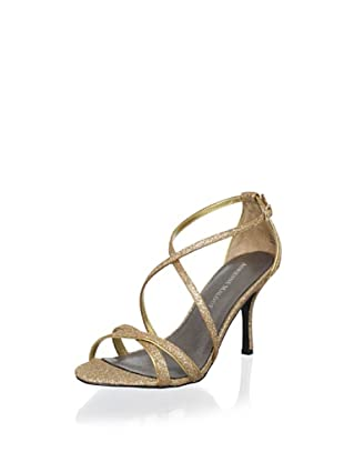 Adrienne Maloof Women's Yalena Glitter Sandal (Gold)