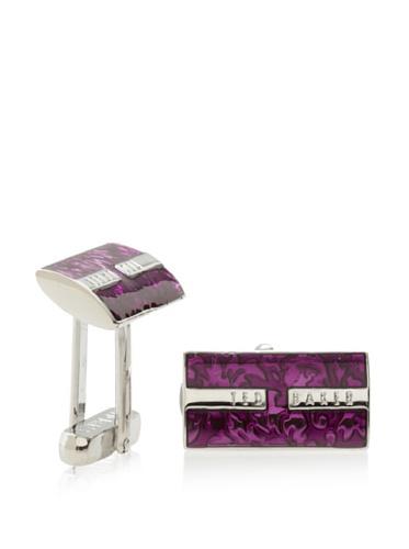 Ted Baker Men's Shier Floral Cufflink (Pink)