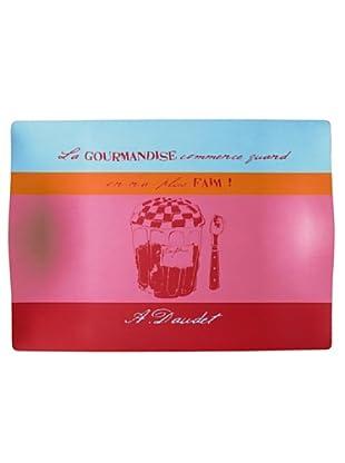 Cayos Company Vassoio Decorazione Marmellata Multicolore 50x36 cm