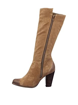 Buffalo London 20478-900 OIL SUEDE 123960 - Botas fashion de cuero para mujer (Beige)