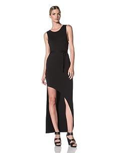 FACTORY by Erik Hart Women's Goddess Dress with Asymmetrical Hemline (Onyx)