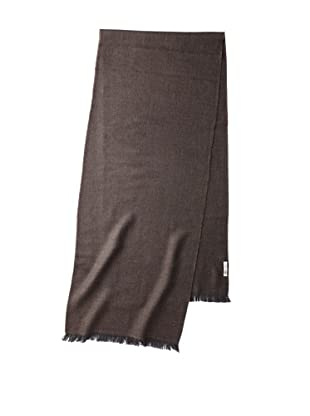 Valentino Women's Wool Herringbone Scarf, Slate/Brown